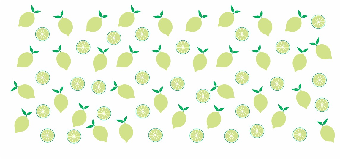 Decalque para Porcelana - Frutinhas Limão