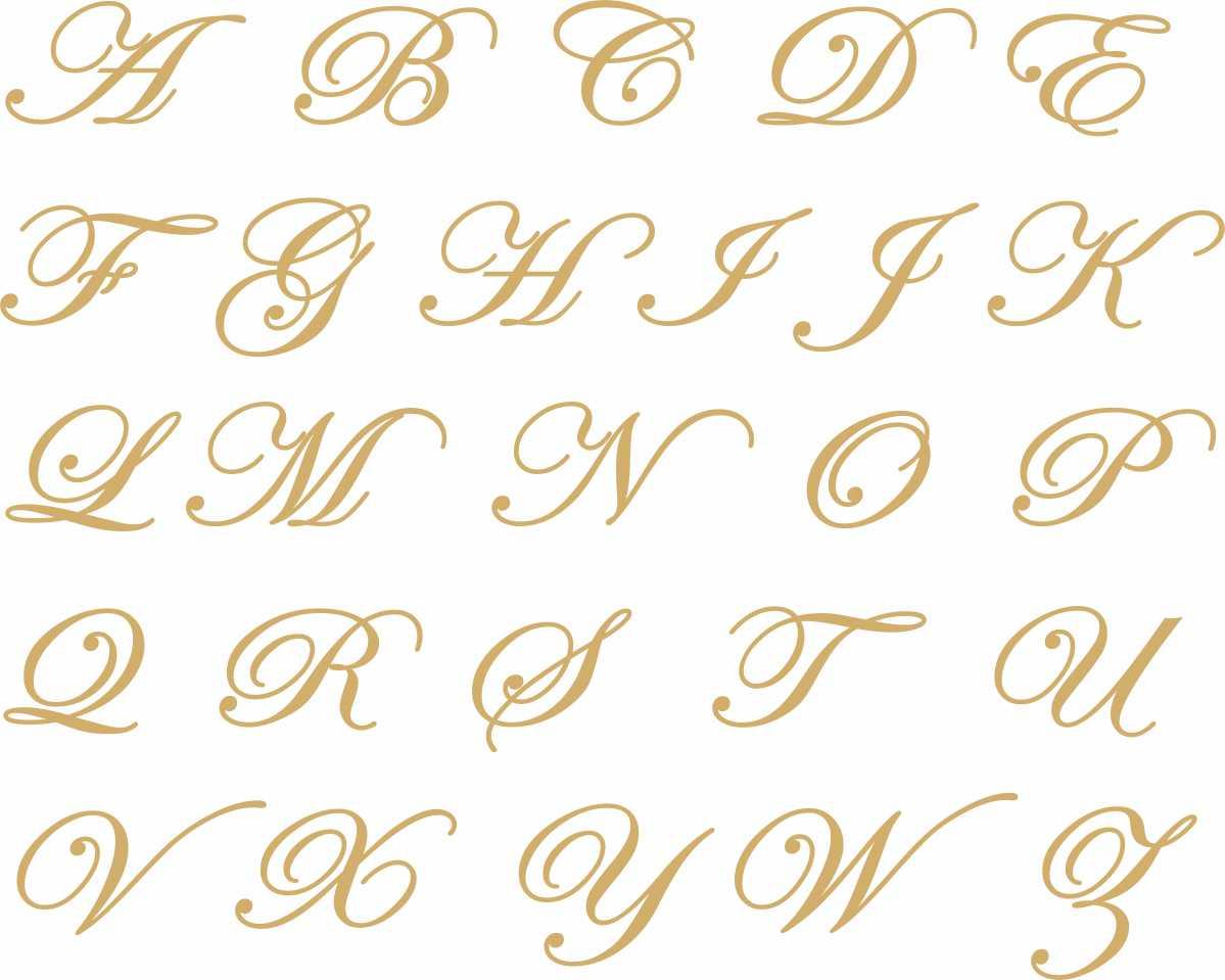 Decalque para porcelana - Iniciais 3cm em Ouro - Avulsa