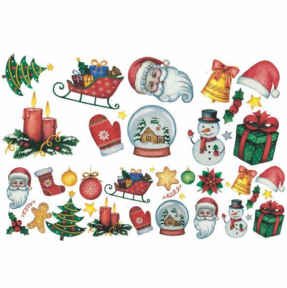 Decalque para Porcelana - Natal Elementos