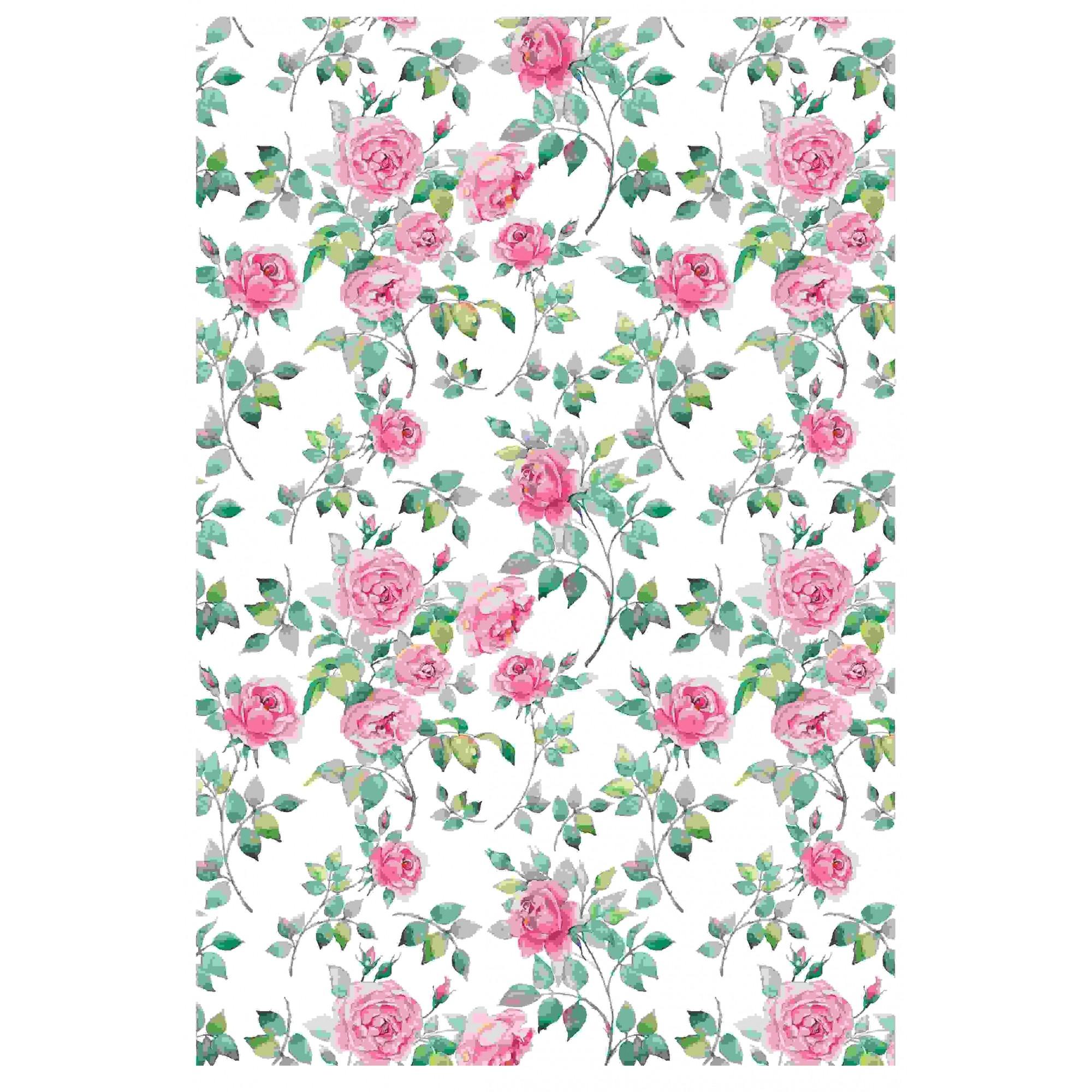 Decalque para Porcelana - Rosas Inglesas OUTRA TONALIDADE