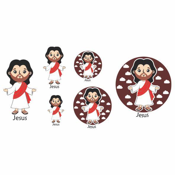 Decalque para Porcelana - Santinhos Jesus