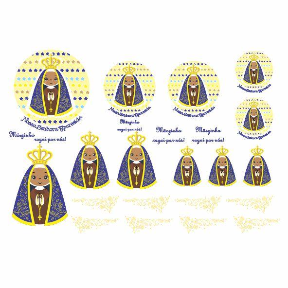 Decalque para Porcelana - Santinhos Nossa Senhora Aparecida