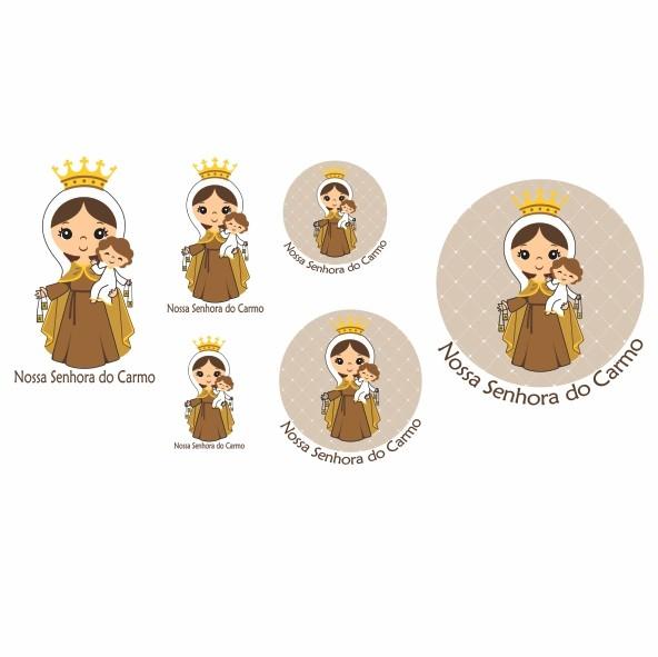 Decalque para Porcelana - Santinhos Nossa Senhora do Carmo