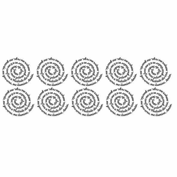 Decalque para Porcelana - Santo Anjo Espiral