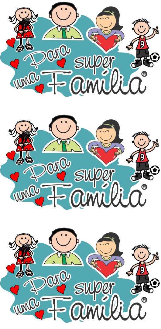 Decalque para Porcelana -Familiares Super Família