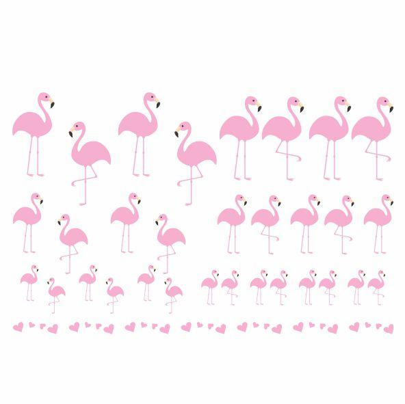 Decalque para Porcelana - Flamingos