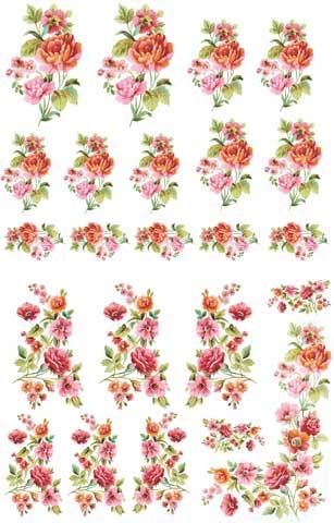 Decalque para Porcelana - Flores Ternura