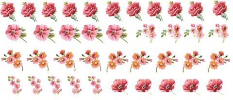 Decalque para Porcelana - Flores Ternura Complementos