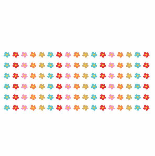 Decalque para Porcelana - Florzinhas Complementos mod. 3