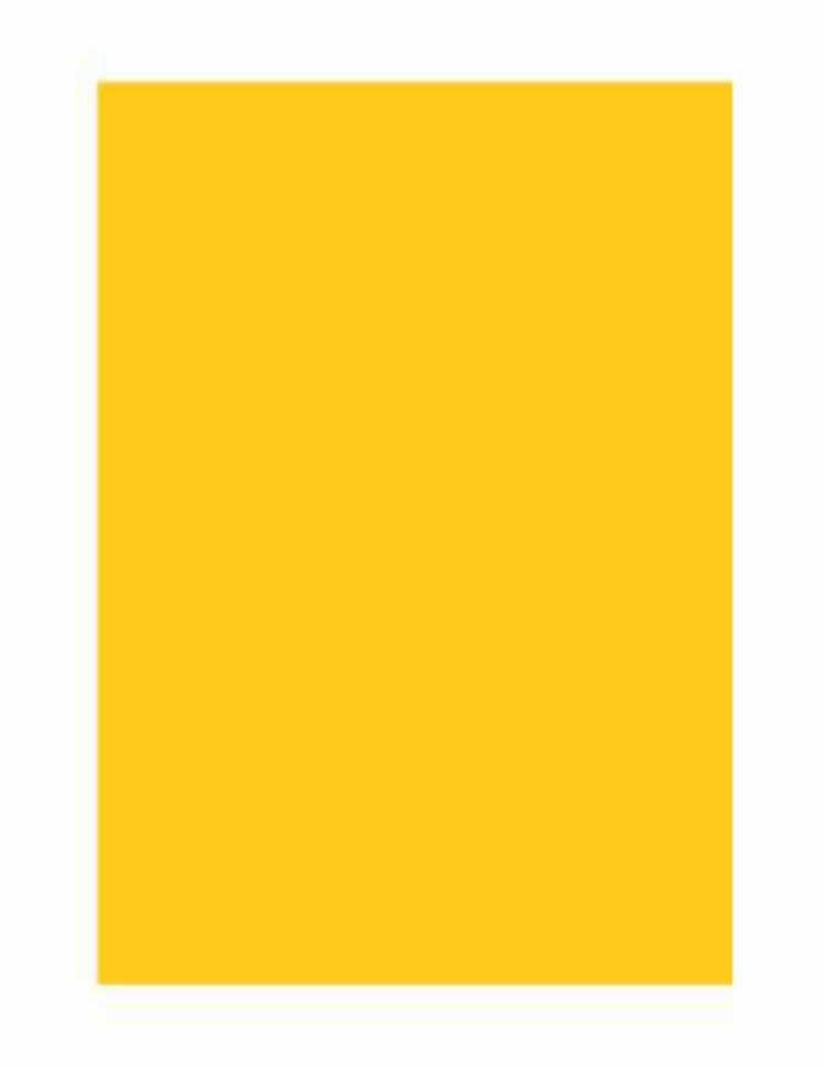 Folha Colorida - Amarelo 11380 - Vidro