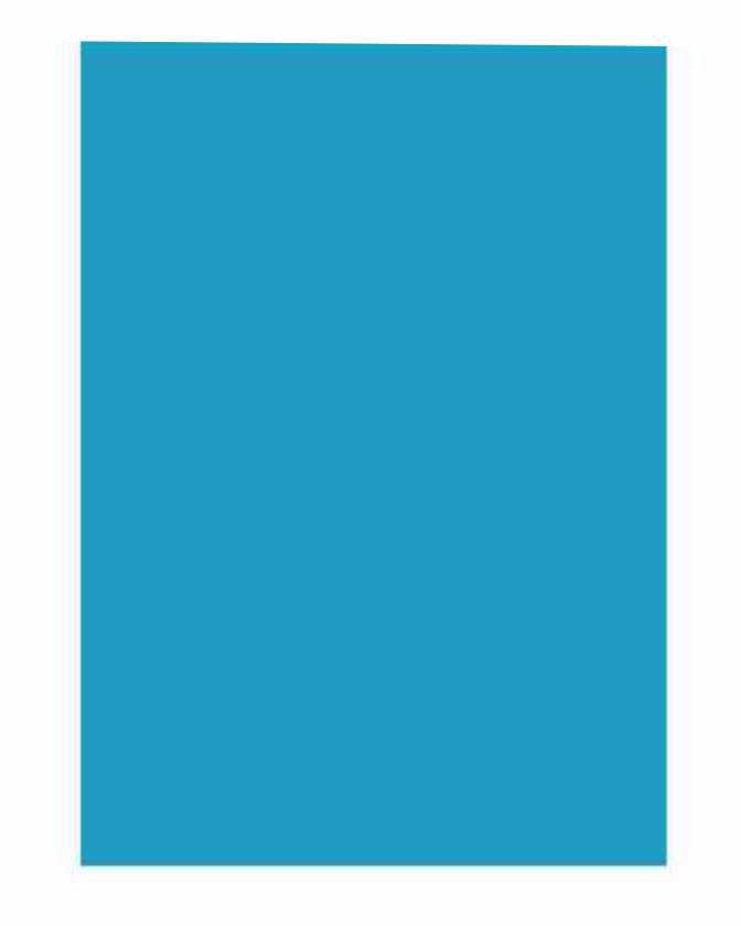 Folha Colorida - Azul GVF26565 - Vidro