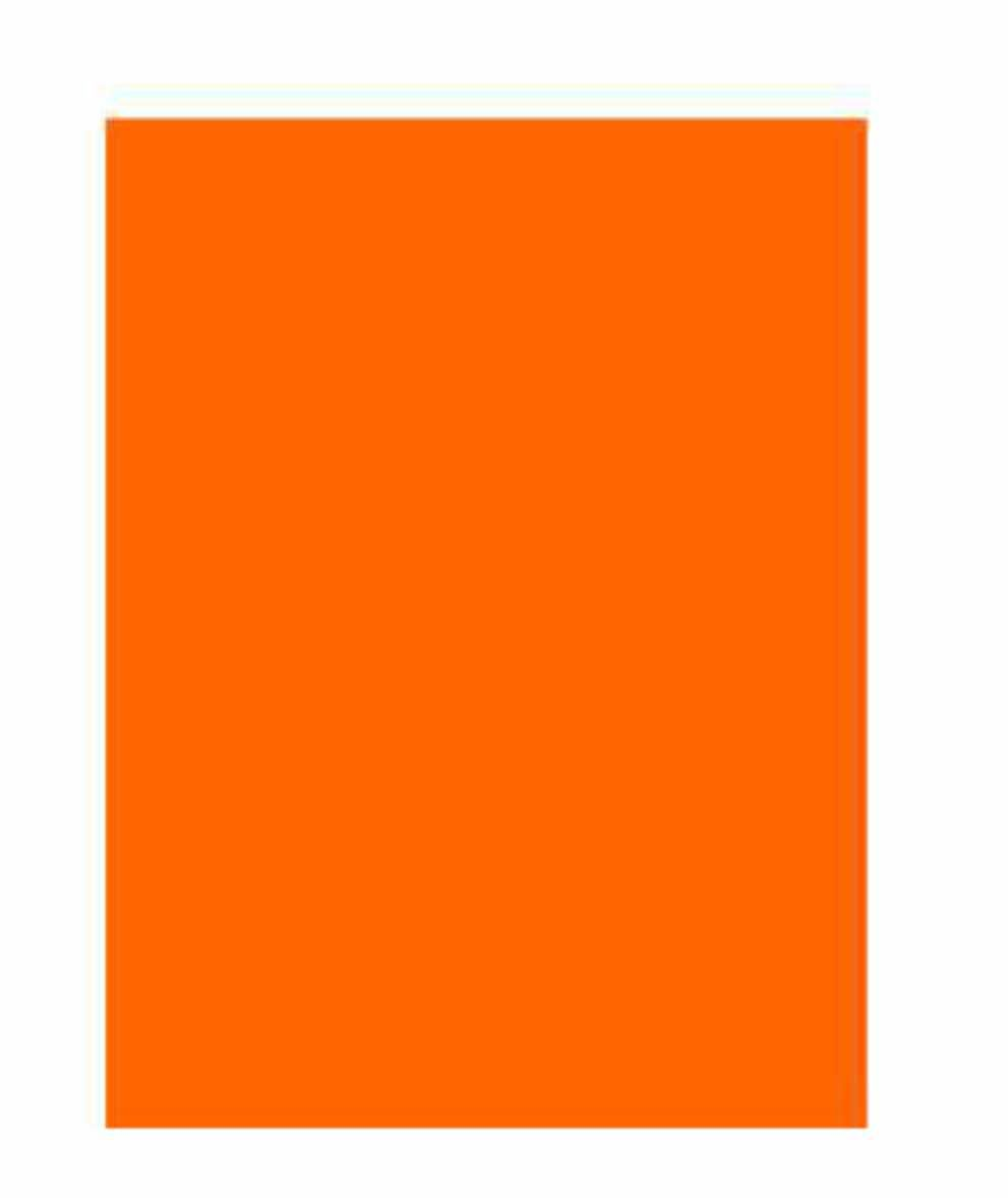 Folha Colorida - Laranja 11318 - Vidro