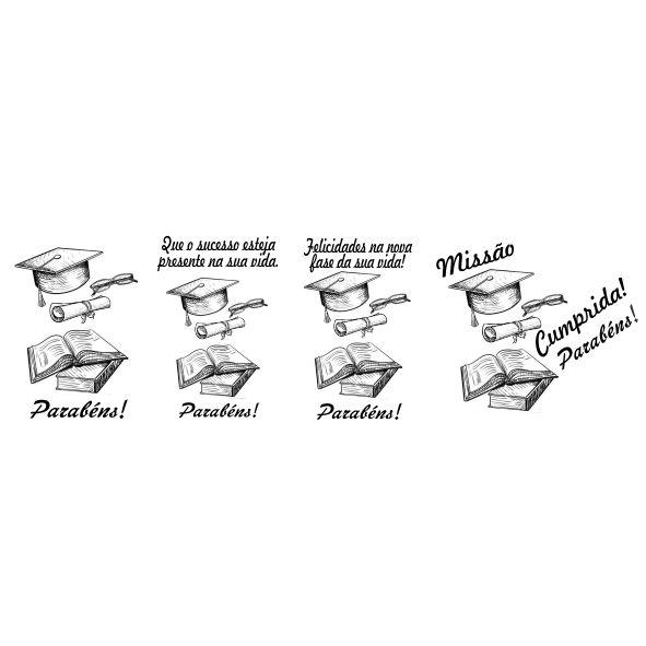 Decalque para Porcelana -Formatura Missão Cumprida
