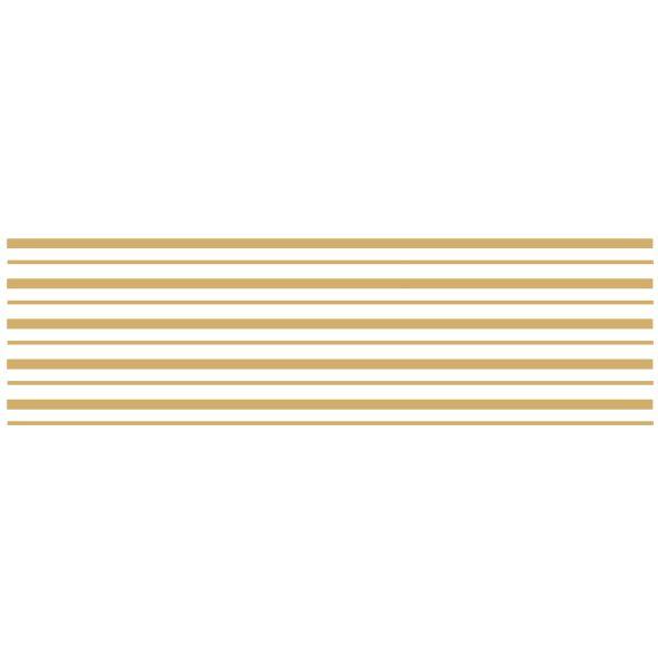 Decalque para Porcelana -Frisos Largos Ouro