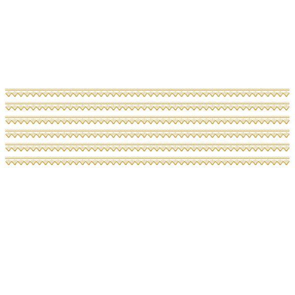 Decalque para Porcelana -Frisos Rendas Ouro ou Prata