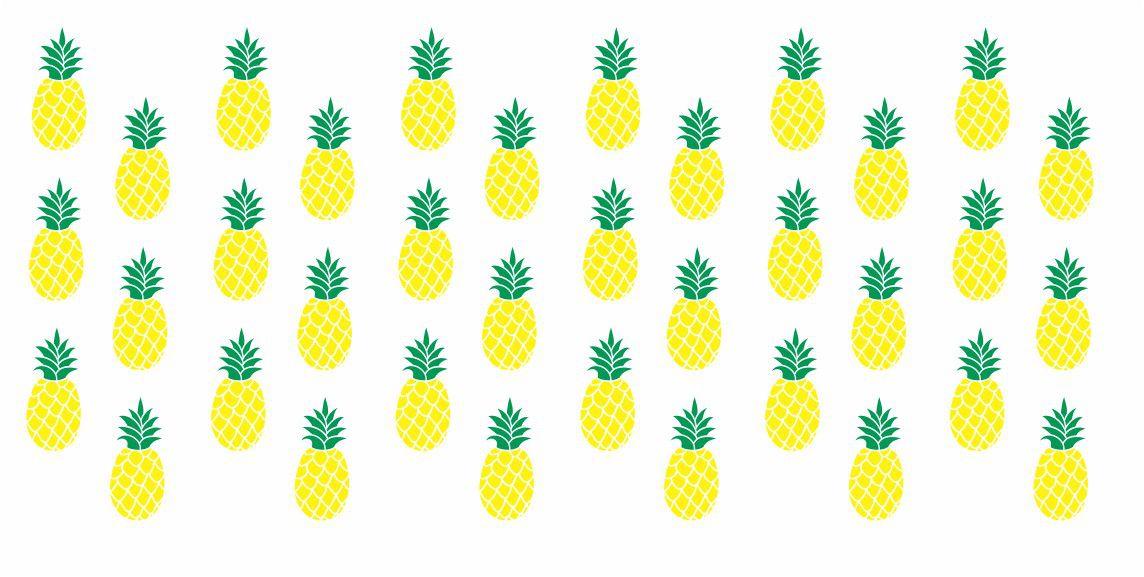 Decalque para Porcelana - Frutinhas Abacaxi