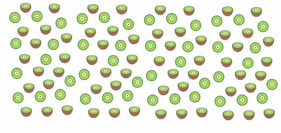 Decalque para Porcelana -Frutinhas Kiwi