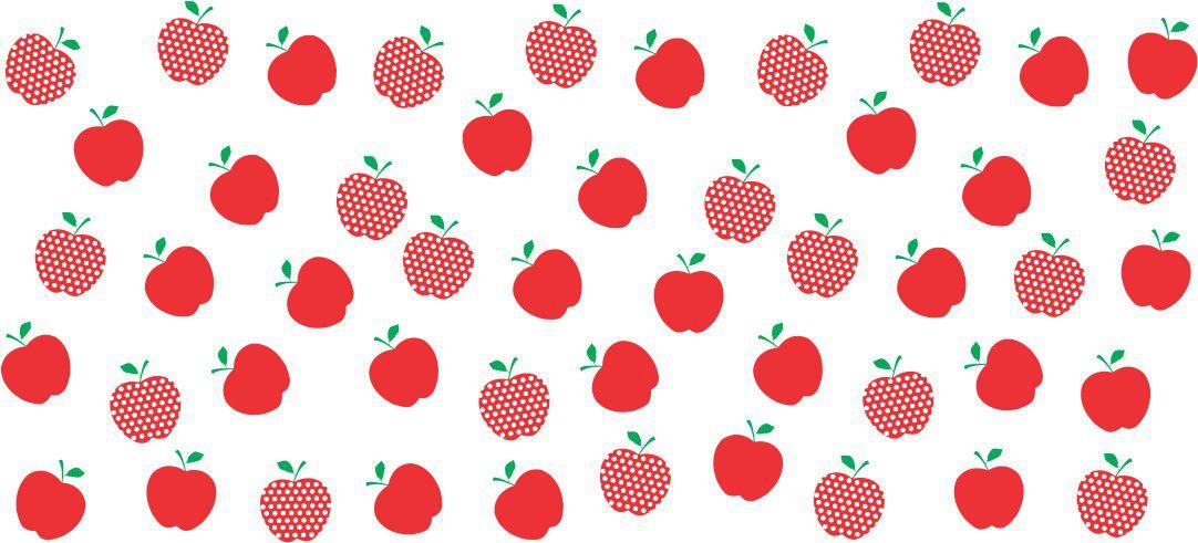 Decalque para Porcelana - Frutinhas Maçã