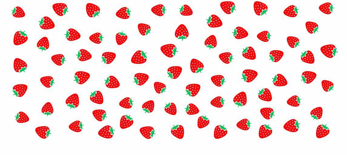 Decalque para Porcelana - Frutinhas Morango