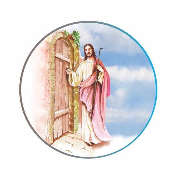 Decalque para Porcelana - Jesus Batendo a Porta