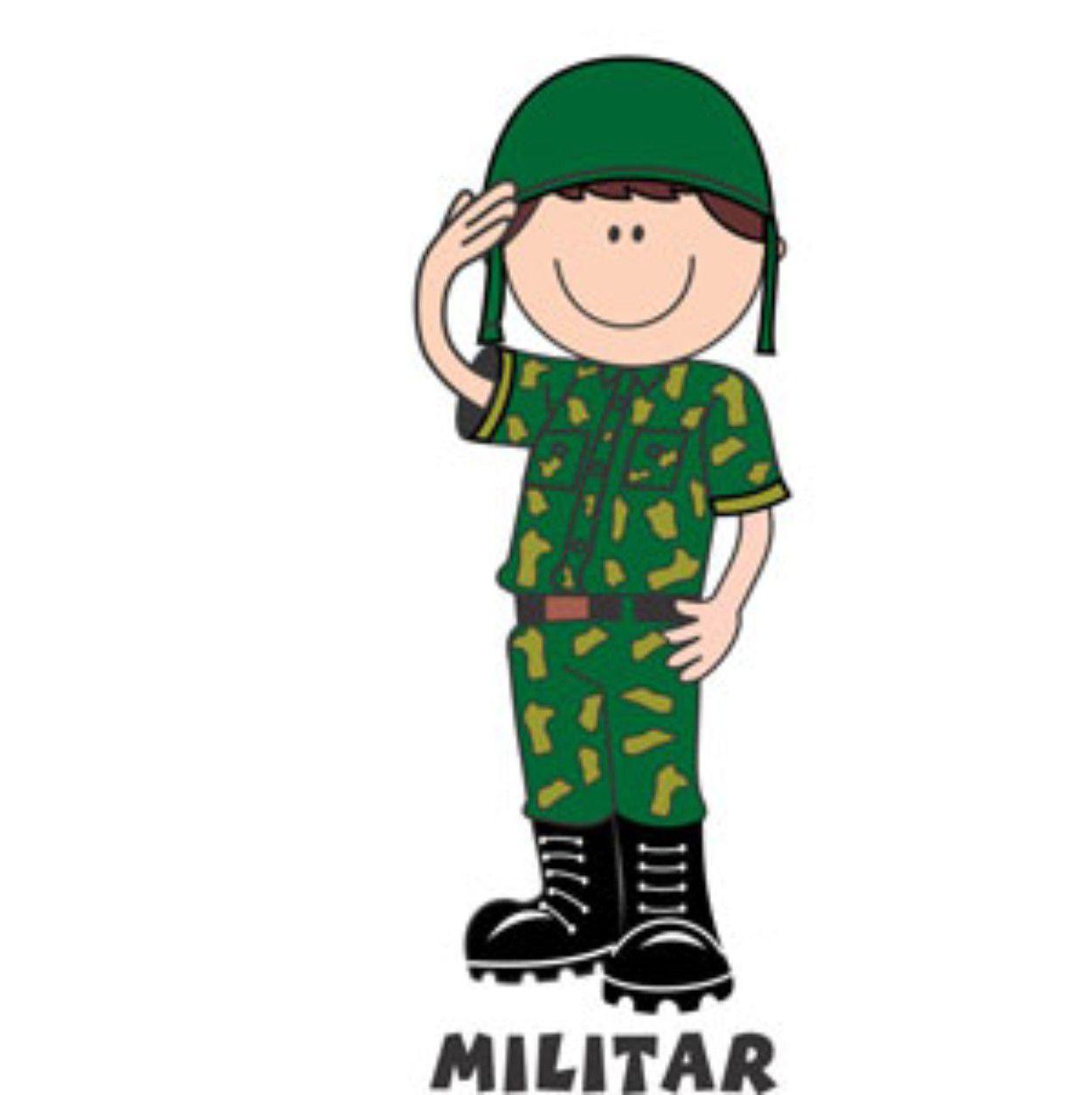 Decalque para Porcelana - Militar(o)