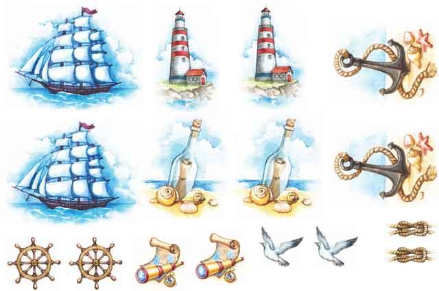 Decalque para Porcelana - Motivos Mar