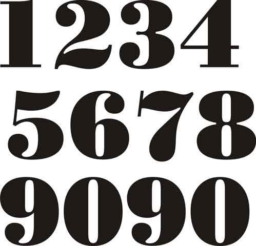 Decalque para Porcelana -Números 5cm