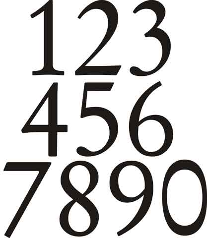 Decalque para Porcelana - Números 9cm