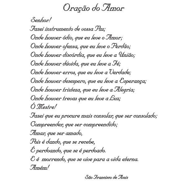 Oração do Amor