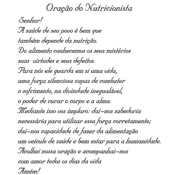 Oração do Nutricionista