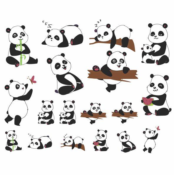 Decalque para Porcelana - Pandas