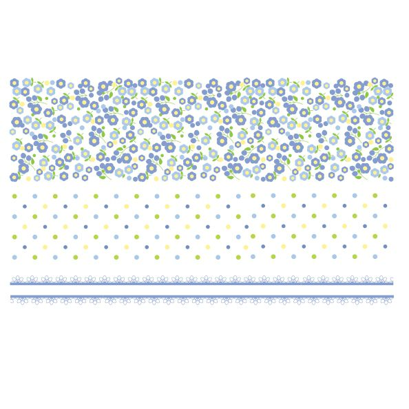 Decalque para Porcelana - Pequenas Flores e Poás