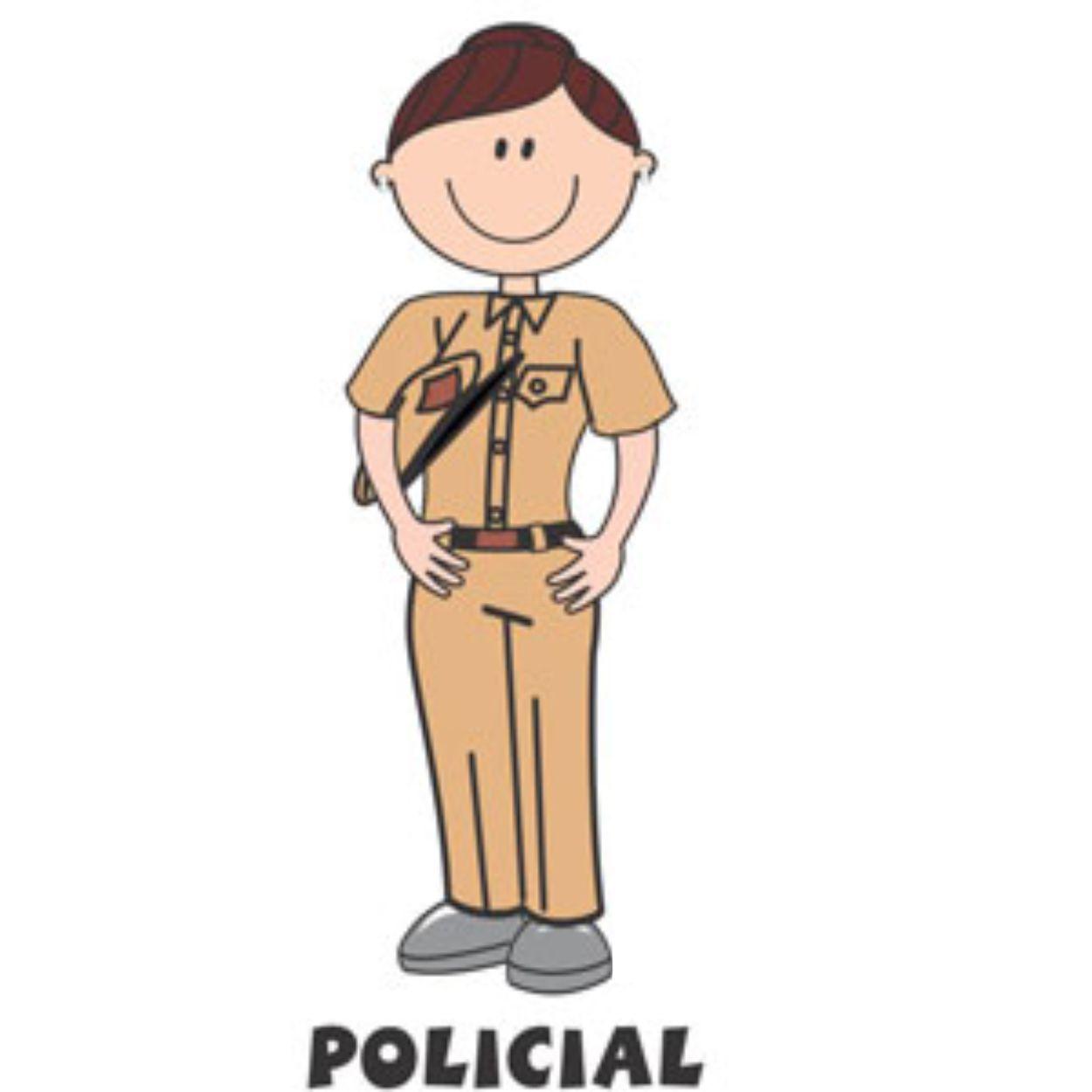 Decalque para Porcelana - Policial (a) bege - sem quepe