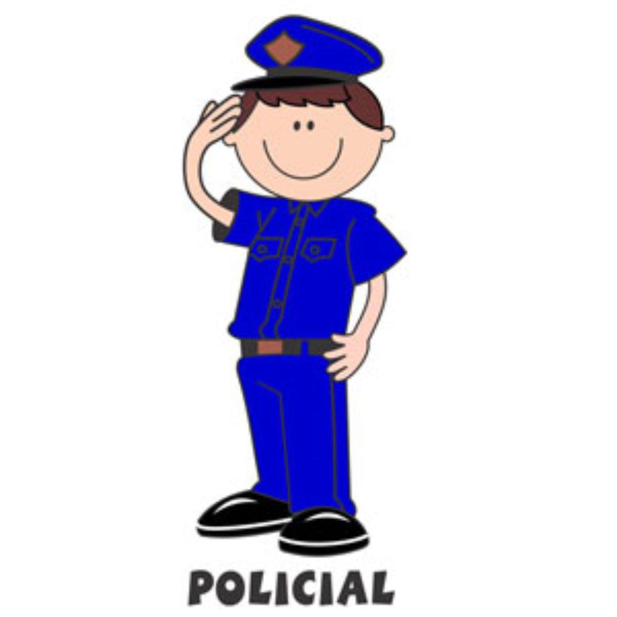 Decalque para Porcelana - Policial(o) Azul