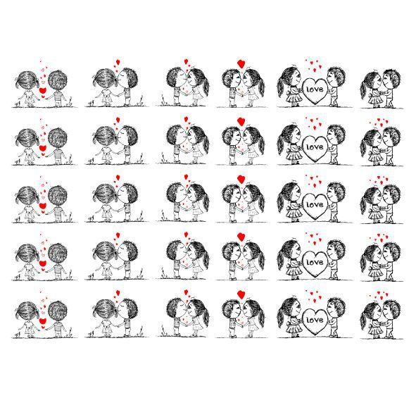Decalque para Porcelana - Primeiro Amor 2,5cm
