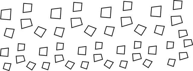 Decalque para Porcelana - Quadrados Contorno