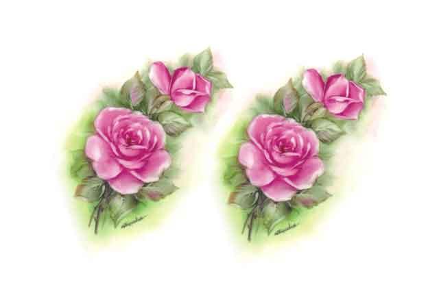 Decalque para Porcelana - Rosas 14cm