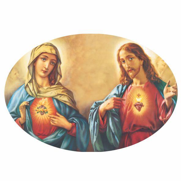 Decalque para Porcelana - Sagrado Coração Oval
