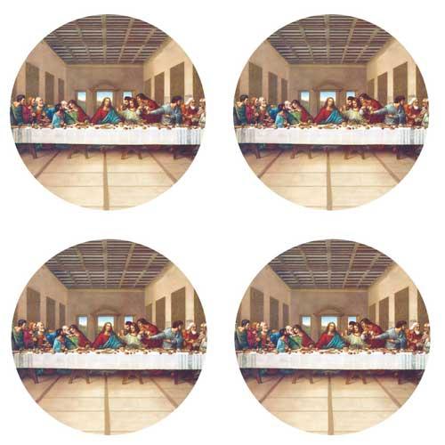 Decalque para Porcelana - Santa Ceia 9,5cm