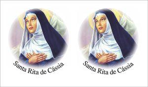 Decalque para Porcelana - Santa Rita 10,5cm