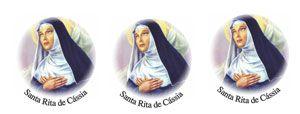 Decalque para Porcelana - Santa Rita 7cm