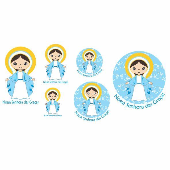 Decalque para Porcelana - Santinhos Nossa Senhora das Graças