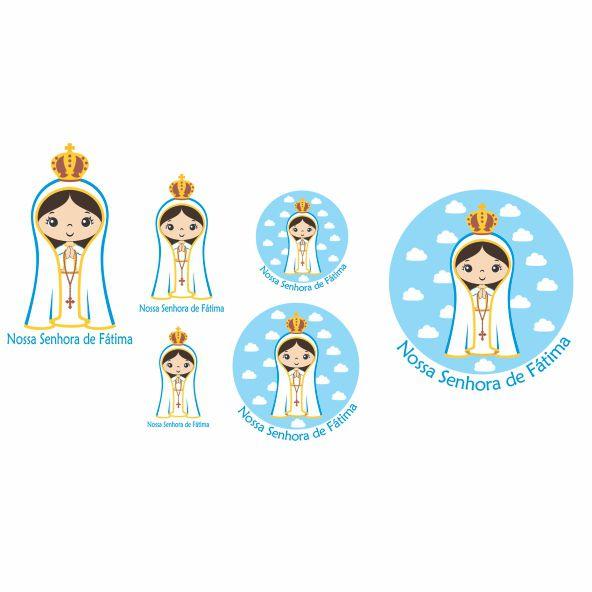 Decalque para Porcelana - Santinhos Nossa Senhora de Fátima