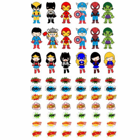 Decalque para Porcelana - Super Heróis Kids