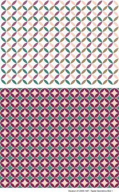 Decalque para Porcelana - Tapete Geométrico Modelo 1