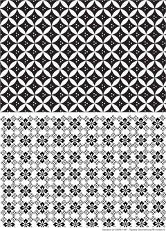 Decalque para Porcelana - Tapete Geométrico Modelo 6