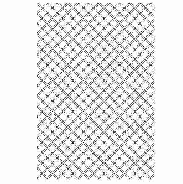 Decalque para Porcelana - Tapete Geométrico PB Modelo 7
