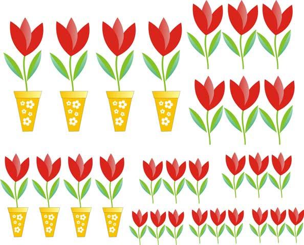 Decalque para Porcelana - Tulipa Vasinho
