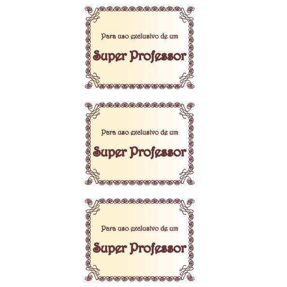 Uso Exclusivo Metalizado - Professor