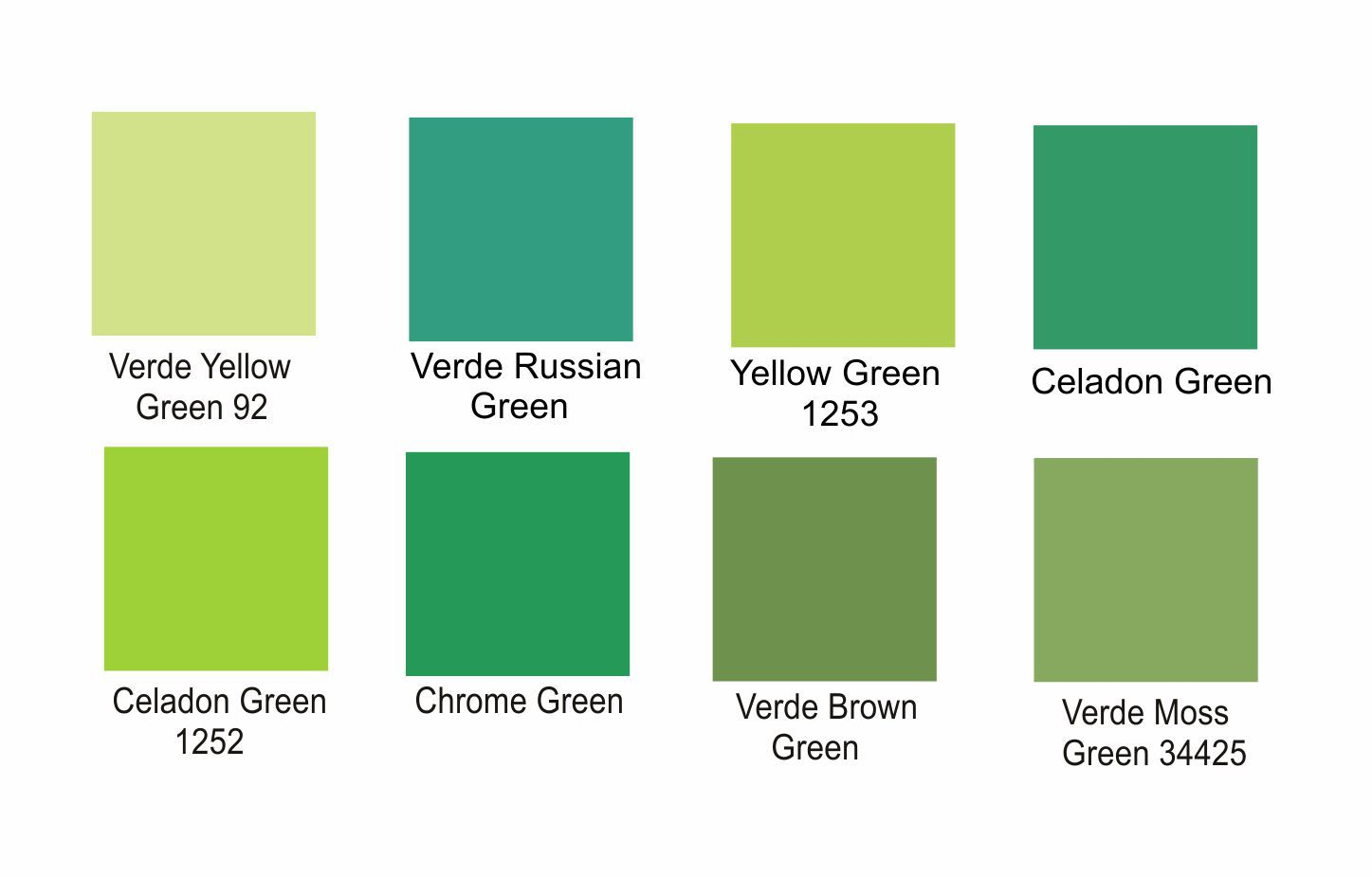 Tintas para Porcelana - Verdes